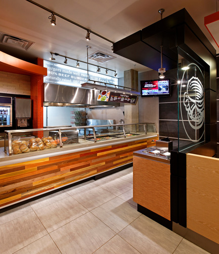 "Press kit | 930-01 - Press release | Gourmet Burger meets ""Haute Couture"" - Jump Branding & Design Inc. - Commercial Interior Design - Photo credit: David Whittaker"