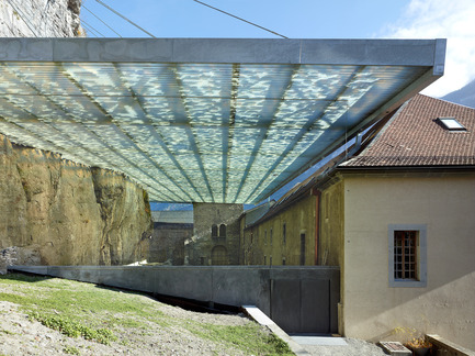 Dossier de presse | 925-01 - Communiqué de presse | Couverture des ruines archéologiques de l'abbaye de St-Maurice - savioz fabrizzi architectes - Architecture institutionnelle - PHOTOGRAPHS ARE NOT ROYALTY FREE, PLEASE CONTACT THE PHOTOGRAPHER TO NEGOTIATE USE FOR PUBLICATION:M.Thomas Jantscher thomas@jantscher.ch   Tel.: 00 41 79 341 48 10  - Crédit photo : Thomas Jantscher