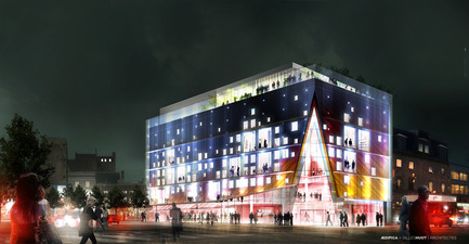 Press kit | 675-05 - Press release | Le 2-22, Quartier des spectacles, Montréal - Aedifica - Institutional Architecture