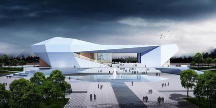 Dossier de presse | 896-01 - Communiqué de presse | Le Grand Thêatre du Shanxi, à Taiyuan (Chine) - Arte Charpentier Architectes - Architecture institutionnelle - Crédit photo : 3D - Perspective du concours