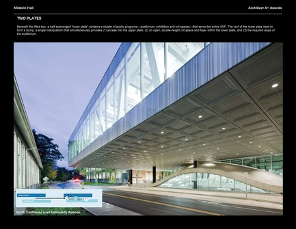 Press kit | 1071-01 - Press release | Architizer A+ Awards winners announced - Architizer - Competition - Milstein Hall - OMA - Photo credit: Architizer