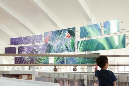 Dossier de presse | 1089-01 - Communiqué de presse | Moment Factory collabore à la transformation de l'aéroport  international de Los Angeles - Moment Factory - Architecture institutionnelle - Crédit photo : Moment Factory