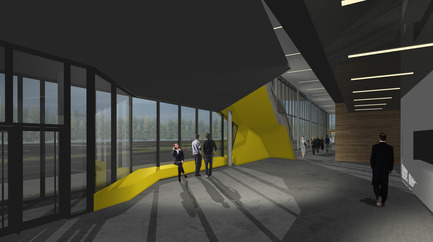Press kit | 886-01 - Press release | Design of the exhibition center of Sherbrooke - CCM² - Côté Chabot Morel architectes - Commercial Architecture