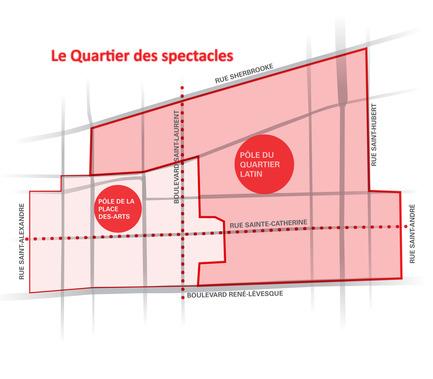 Dossier de presse | 801-02 - Communiqué de presse | Lumière sur le pôle du Quartier latin - Arrondissement de Ville-Marie - Évènement + Exposition - Montréal - Quartier des spectacles