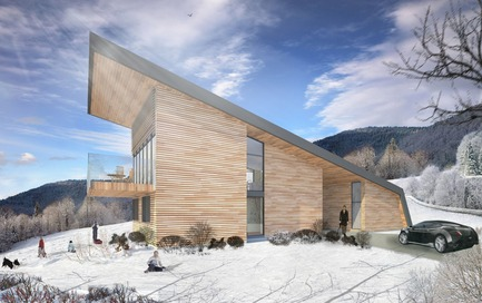 Press kit | 877-01 - Press release | Les Terrasses Cap-À-L'aigle: Where architecture and nature connect - MU Architecture - Residential Architecture - MALBAIE - Photo credit: Les Terrasses Cap-à-L'Aigle