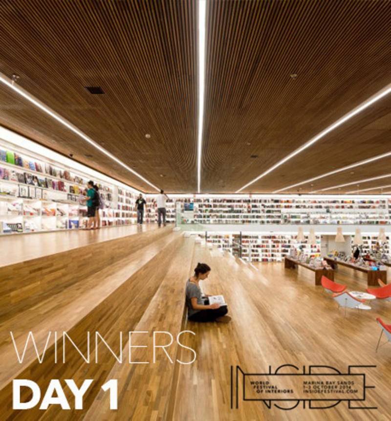 Dossier de presse - Communiqué de presse - Brazilian bookstore named world's best retail design of 2014 against stiff competition from Harrods and fashion heavyweights - INSIDE: World Festival of Interiors