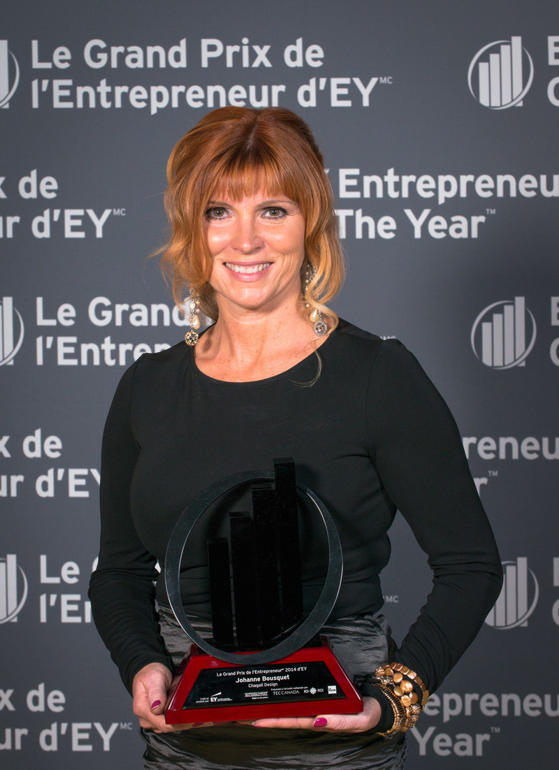 Newsroom - Press release - Johanne Bousquet of Chagall Design named EY Entrepreneur Of The Year Québec 2014 Real Estate and Construction award winner - Chagall Design