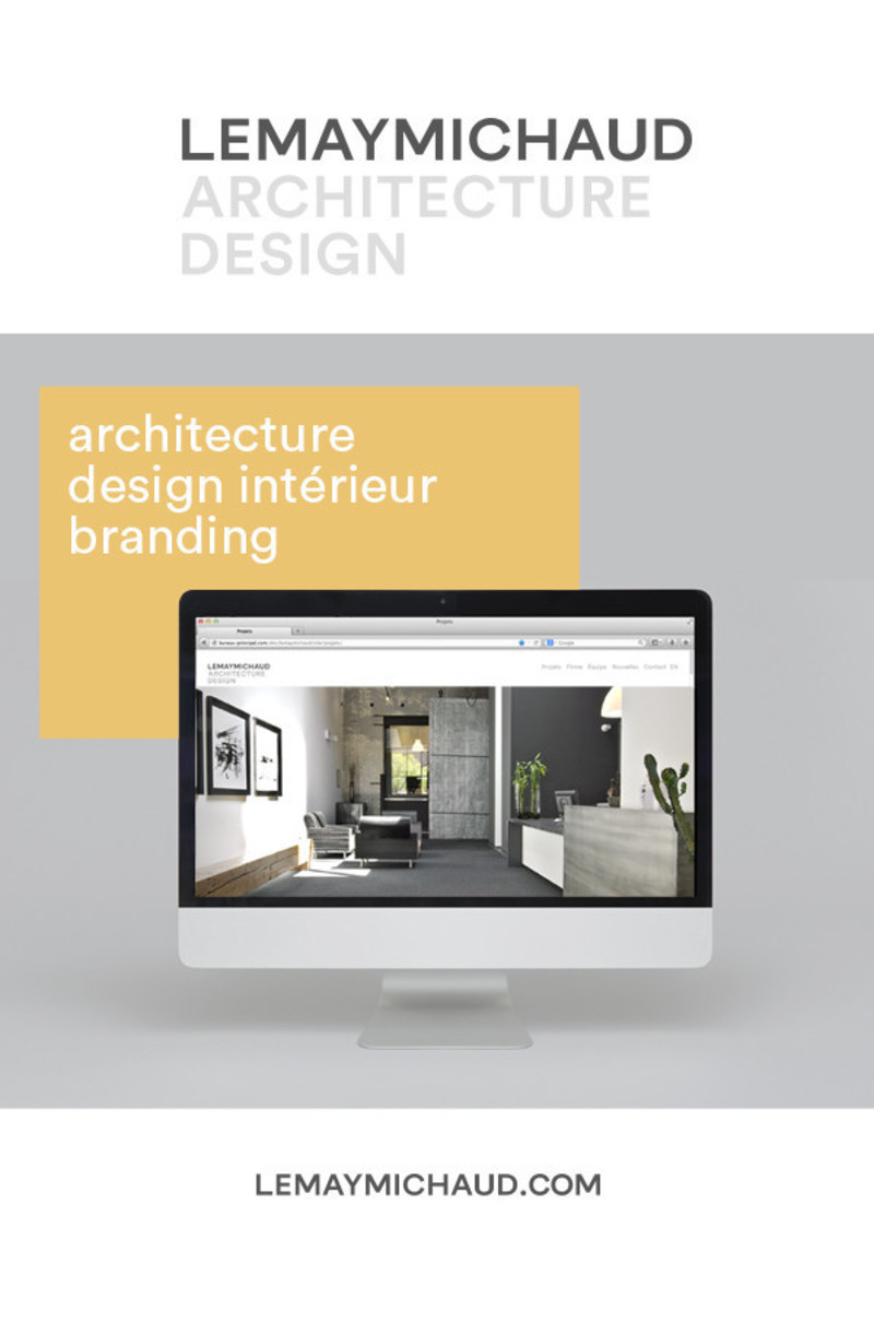 Newsroom - Press release - New visual identity and redesigned website - LEMAYMICHAUD Architecture Design