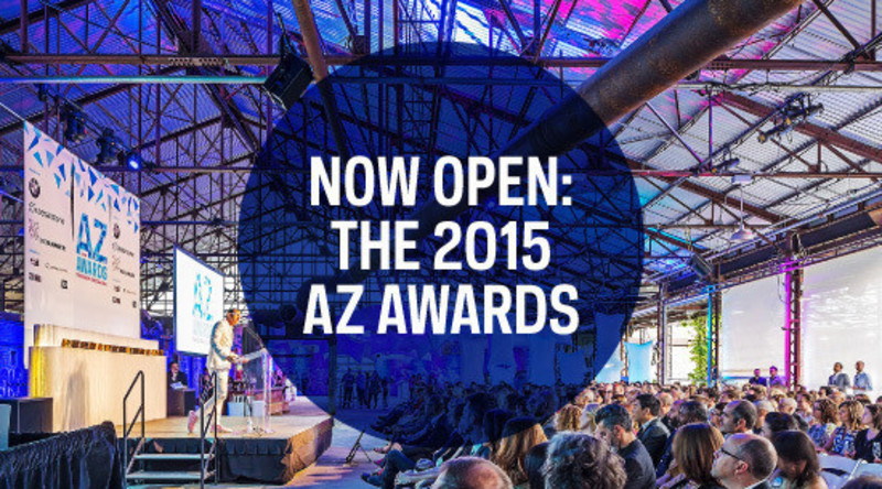 Dossier de presse - Communiqué de presse - 2015 AZ Awards now open for entries - Azure Magazine