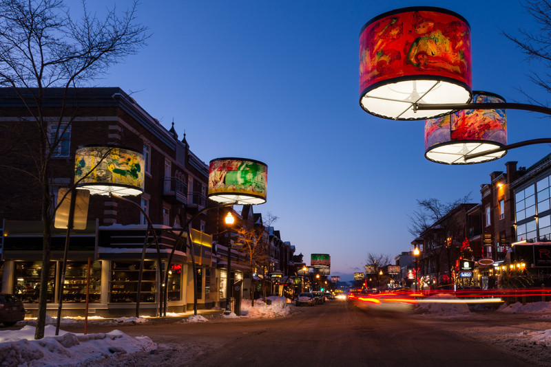 Press kit - Press release - Giant Lampshades Create Spectacular Urban Lighting in Quebec City - Lightemotion