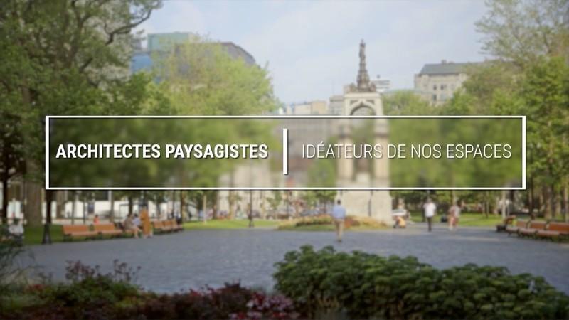 Press kit - Press release - Lancement d'une vidéo sur la profession d'architecte paysagiste - Association des architectes paysagistes du Québec