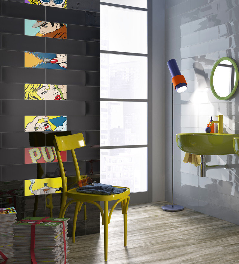 Press kit - Press release - A new tile collection inspired by the Pop Art of Roy Lichtenstein - Ceratec