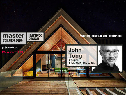 "Newsroom | v2com-newswire | Newswire | Architecture | Design | Lifestyle - Press release - ""Memory & innovation"", a Master Class with John Tong, designer - Index-Design"
