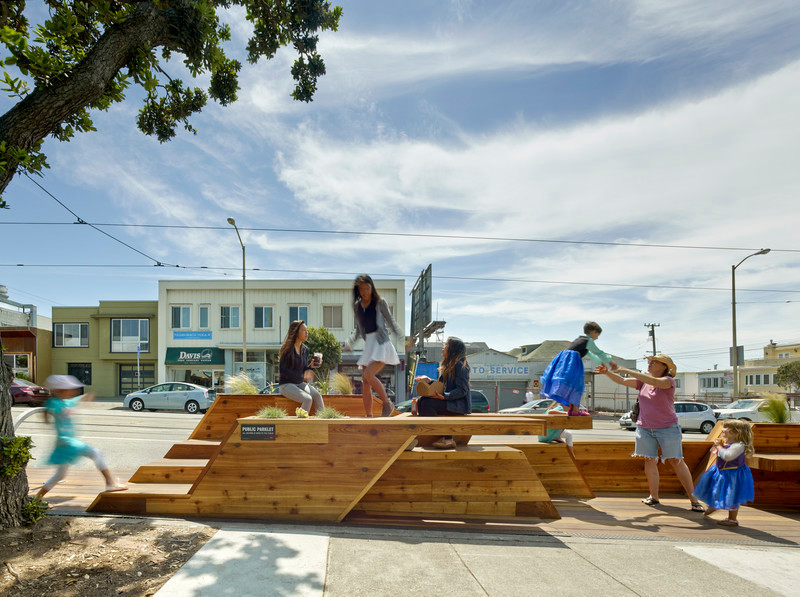 Press kit - Press release - Sunset Parklet receives Special Recognition in Urban Design Award - INTERSTICE Architects
