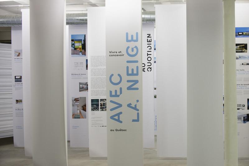 Press kit - Press release - 'Vivre et concevoir avec la neige au Québec' - Maison de l'architecture du Québec