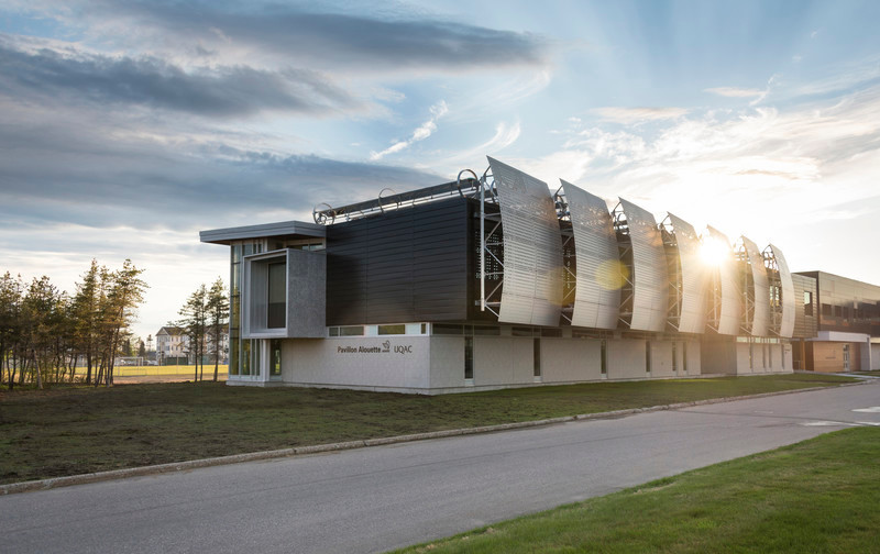 Press kit - Press release - Alouette University Building, UQAC - BGLA | Architecture + Design urbain