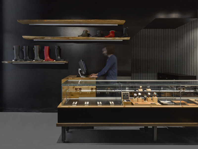 Press kit - Press release - Quadrangle Architects win ARIDO Award for the bespoke retail display system at Due West on Toronto's Queen Street West - Quadrangle Architects Ltd