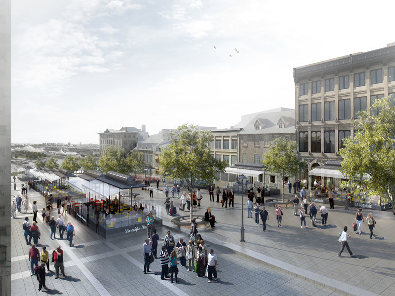 Newsroom - Press release - Legacy of Montréal's 375th anniversary in Ville-Marie: An even more inviting Place Jacques-Cartier - Arrondissement de Ville-Marie