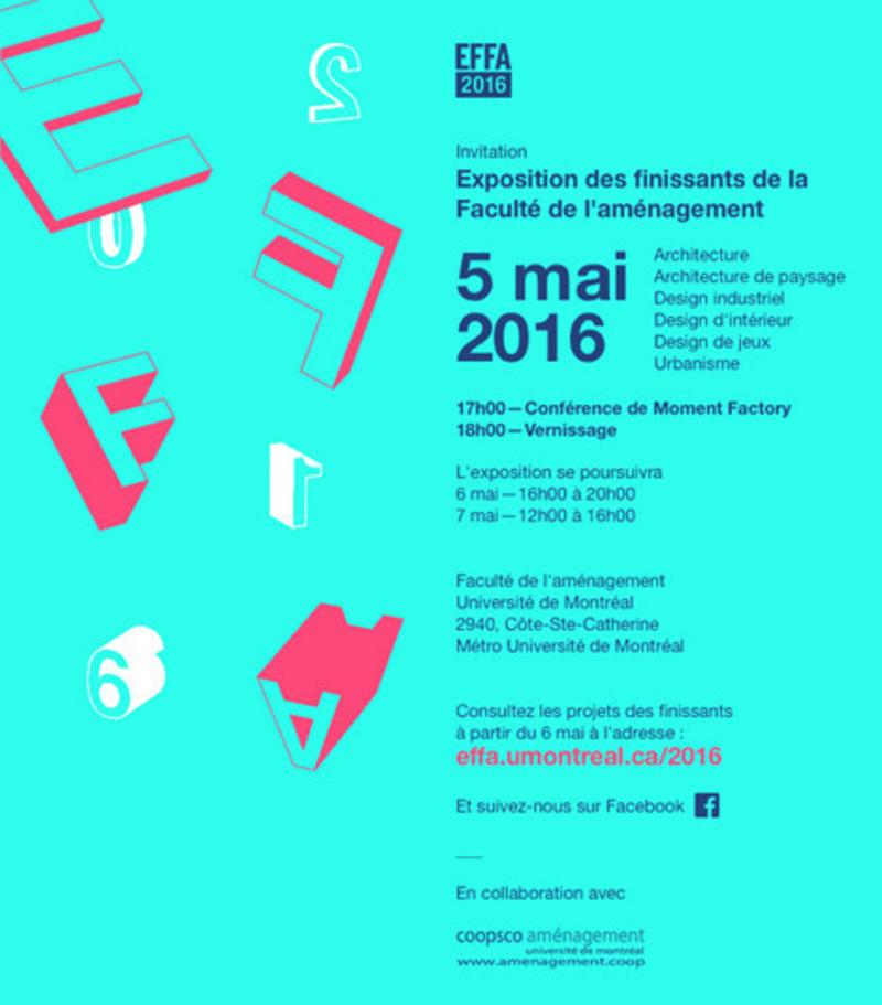 Press kit - Press release - Exhibition by graduating students of the Université de Montréal Faculty of Environmental Design - Université de Montréal