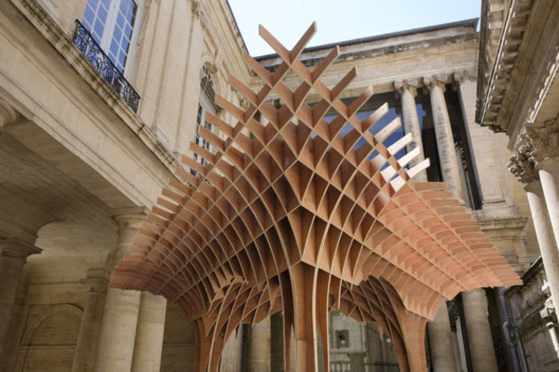 Newsroom | v2com-newswire | Newswire | Architecture | Design | Lifestyle - Press release - The pavilions of the FAV 2013 - MontpellierRobin Juzon Architecte - Association Champ Libre - Festival des Architectures Vives (FAV)