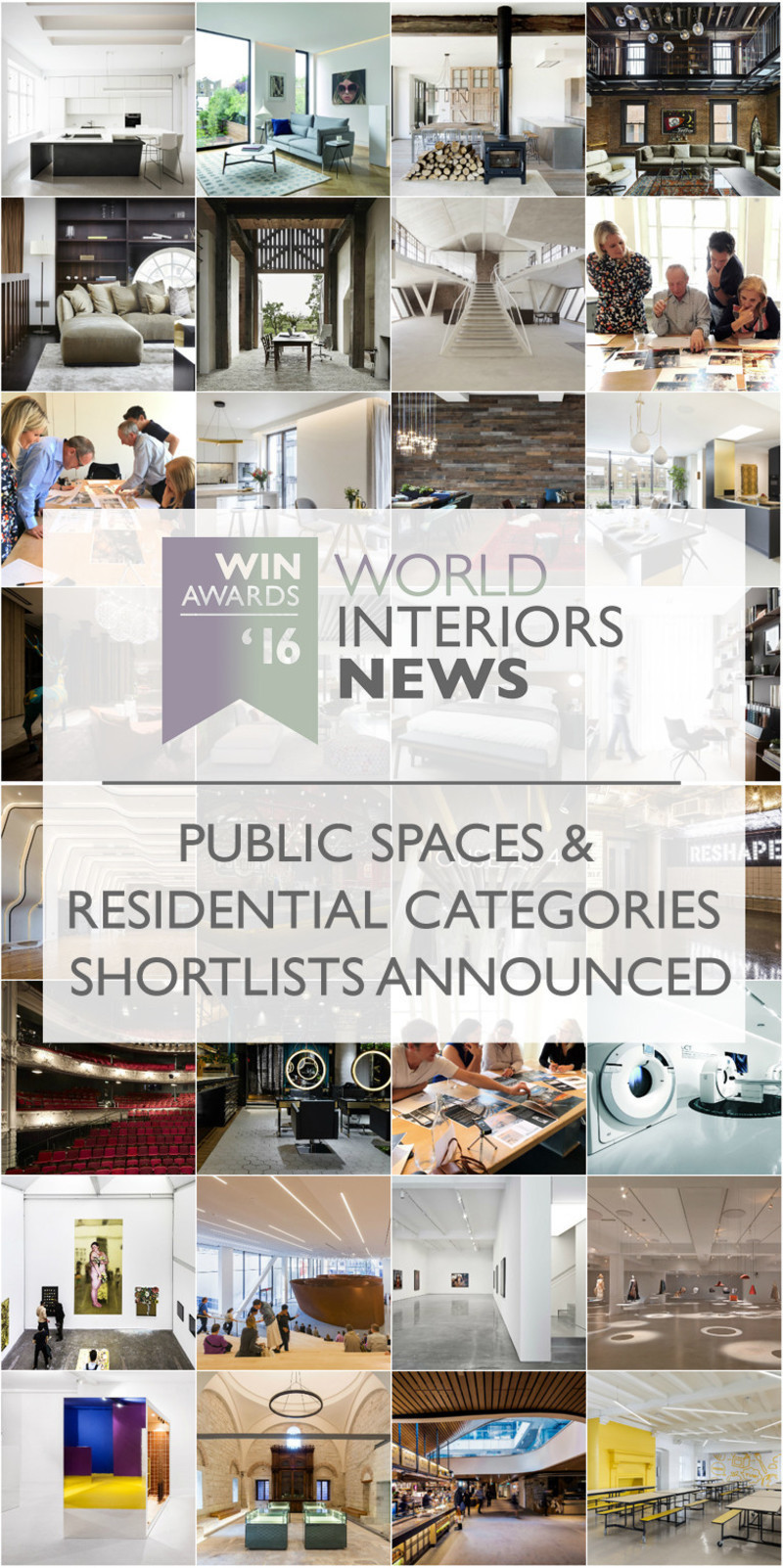Newsroom - Press release - WIN Awards - Public Spaces + Residential Categories Shortlists Announced - World Interiors News
