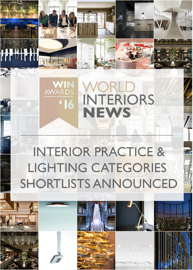 Dossier de presse - Communiqué de presse - WIN Awards - Interior Practice & Lighting Categories Shortlists Announced - World Interiors News