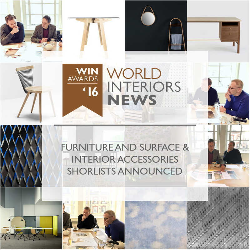 Press kit - Press release - WIN Awards - Furniture and Surface & Interior Accessories Shortlists Announced - World Interiors News