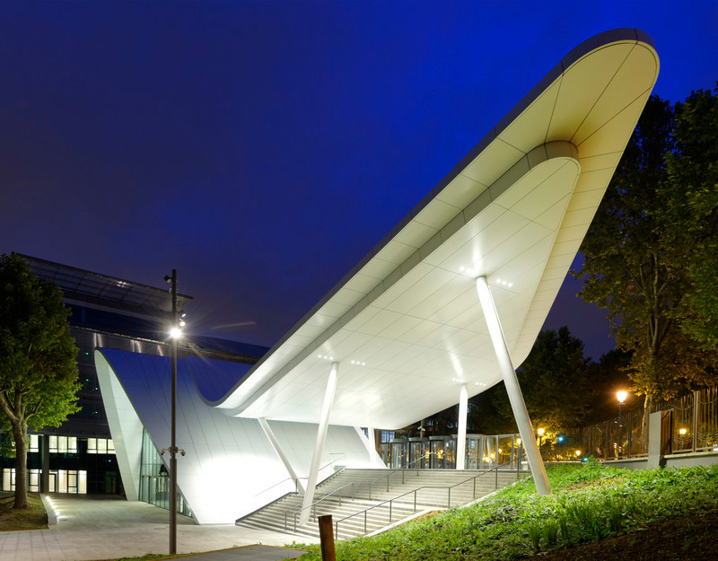 Press kit - Press release - Evergreen campus reception pavilion - Arte Charpentier Architectes