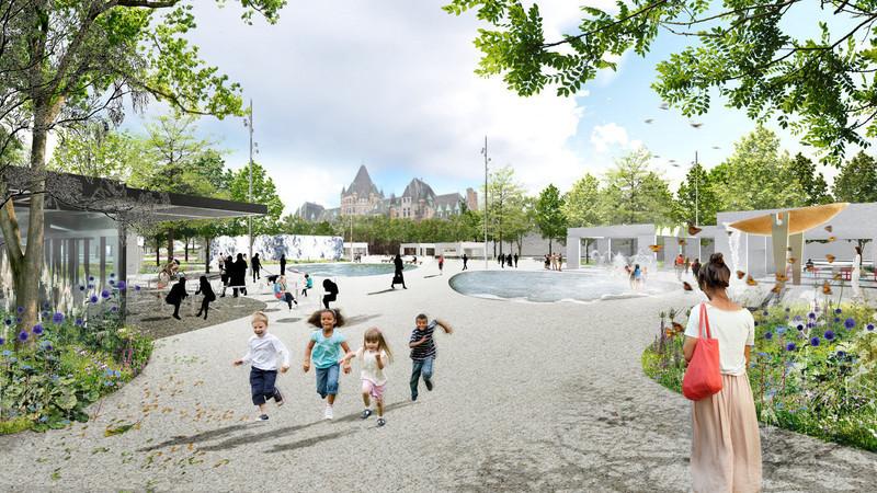 Press kit - Press release - The Viger Square revitalization: a hybrid landscape grounded in its built and artistic heritage - Ville de Montréal and NIPPAYSAGE