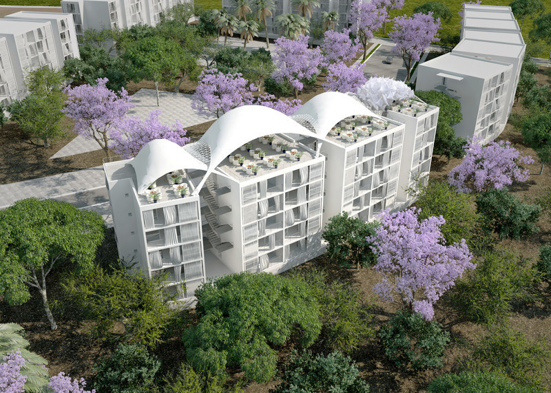 "Newsroom - Press release - Social Housing ""Colline aux Oliviers"" - Philippe Barriere Collective (PB+Co)"