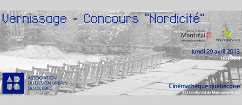 Salle de presse - Communiqué de presse - Vernissage du concours « Nordicité » - Association du design urbain du Québec (ADUQ)