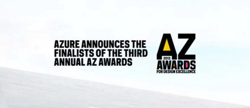 Newsroom | v2com-newswire | Newswire | Architecture | Design | Lifestyle - Press release - Azure announces the finalists of the third Annual Az Awards - Azure Magazine