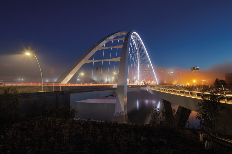 Press kit - Press release - The iconic new Walterdale Bridge connects the city, nature, and people - DIALOG