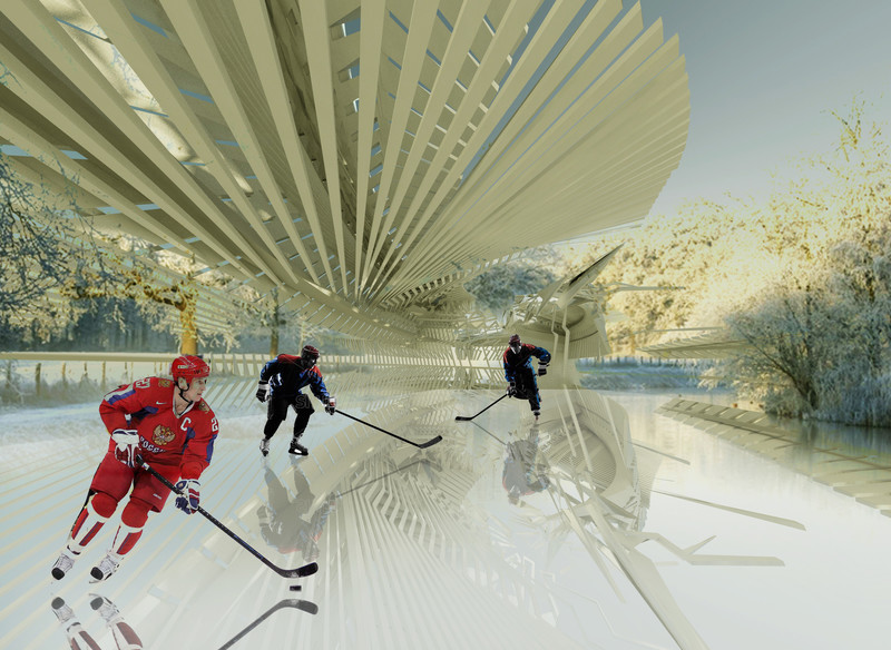 Newsroom | v2com-newswire | Newswire | Architecture | Design | Lifestyle - Press release - Photovoltaic Ice Skating Rink - Margot Krasojević Architects