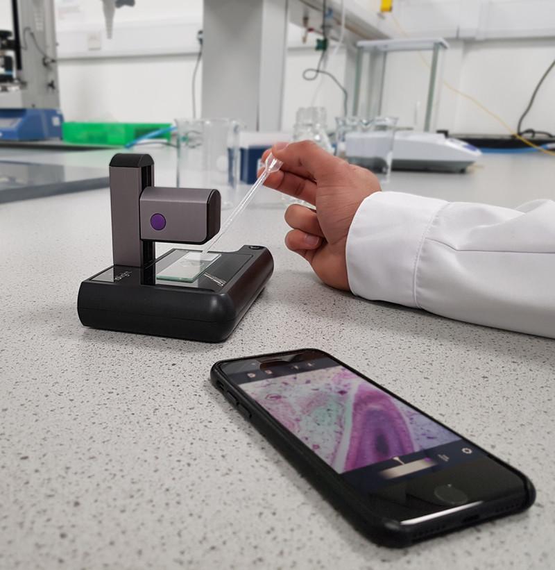 Press kit - Press release - ioLight Portable High Resolution Microscope - Cambridge Industrial Design