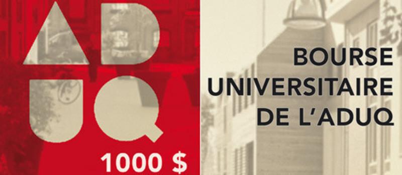 Dossier de presse - Communiqué de presse - Bourse universitaire de l'ADUQ 2013 - Association du design urbain du Québec (ADUQ)