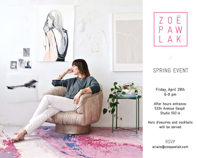 Press kit - Press release - Zoë Pawlak Art + Design Studio: Spring Event - Zoë Pawlak Studio