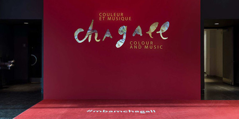 "Press kit - Press release - Menkès Shooner Dagenais LeTourneux Architectes Part of the MMFA's Successful Exhibition ""Chagall: Colour and Music"" - Menkès Shooner Dagenais LeTourneux Architectes in collaboration with the Montreal Museum of Fine Arts"
