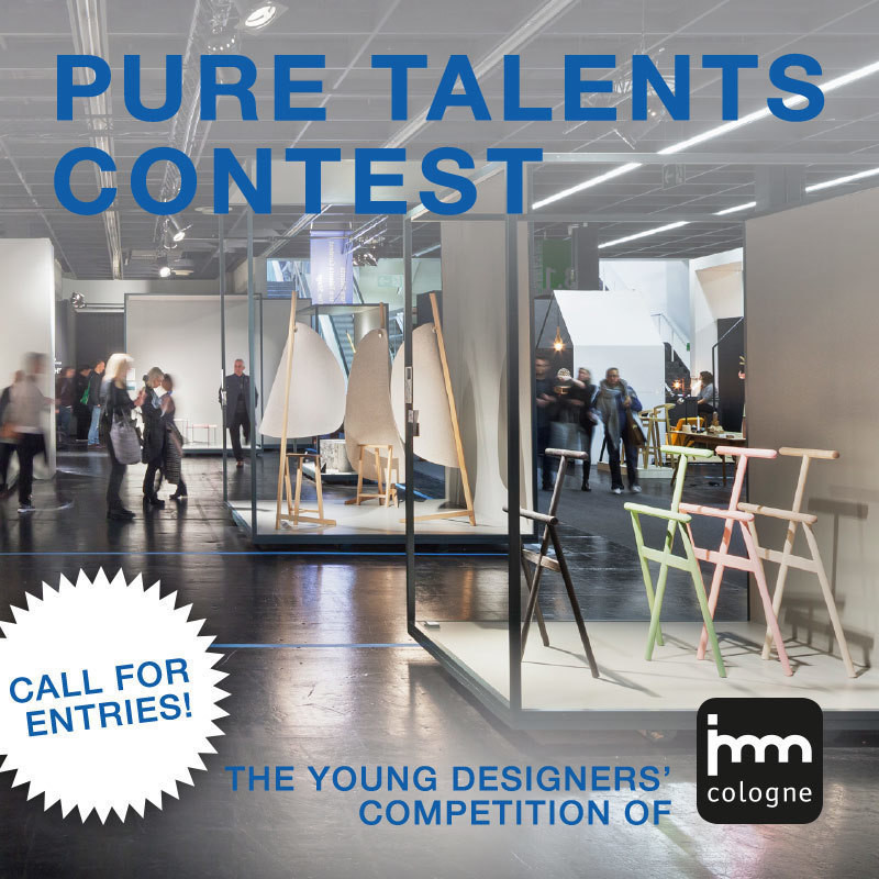 Newsroom | v2com-newswire | Newswire | Architecture | Design | Lifestyle - Press release - imm cologne's 15th Pure Talents Contest is Now Open for Entries - imm cologne 2018, Koelnmesse