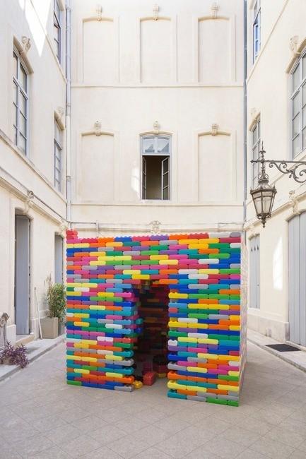 """Press kit - Press release - """"La Madeleine"""" - Festival des Architectures Vives de Montpellier 2017 - Atelier Microméga"""