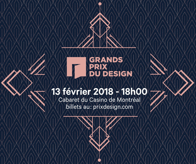 Newsroom - Press release - The 2018 GRANDS PRIX DU DESIGN Awards Gala - Less Than a Week Away - Agence PID