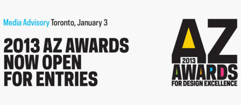 Dossier de presse - Communiqué de presse - 2013 Az Awards now open for entries - Azure Magazine