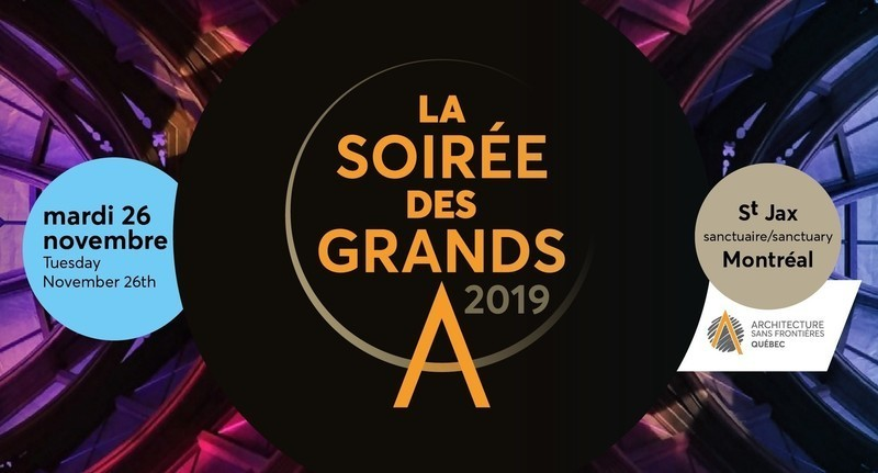 Newsroom | v2com-newswire | Newswire | Architecture | Design | Lifestyle - Press release - Join us for the 2019 'Soirée des Grands A'! - Architecture Without Borders Quebec