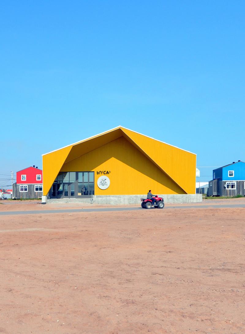 Press kit - Press release - Un nouveau centre culturel ouvre ses portes au Nunavik - Blouin Orzes architectes