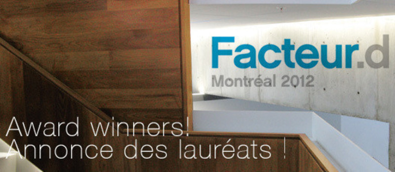 Newsroom - Press release - After a Day Rich in Content, the 7 Facteur D Award Winners are Announced - Mission Design