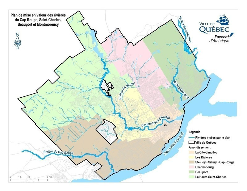 Press kit - Press release - Call for tenders by City of Québec for the Cap Rouge, Saint-Charles, Beauport and Montmorency rivers - City of Quebec