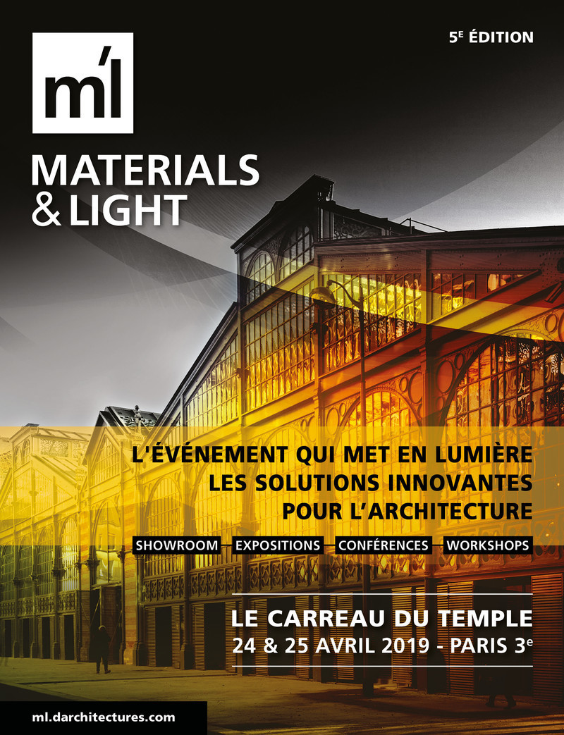 Salle de presse | v2com-newswire | Fil de presse | Architecture | Design | Art de vivre - Communiqué de presse - Materials & Light #5 : 24 et 25 avril, Paris - d'architectures