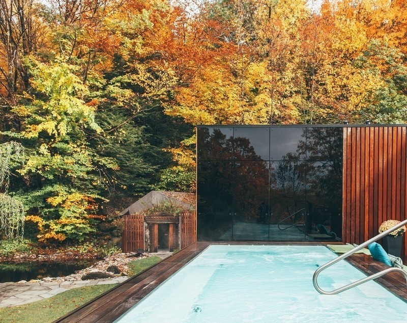 Newsroom | v2com-newswire | Newswire | Architecture | Design | Lifestyle - Press release - The PavillonOuest: a New Relaxation Space at BALNEA spa + réservethermale Bromont, Canada - BALNEA Spa + réserve thermale