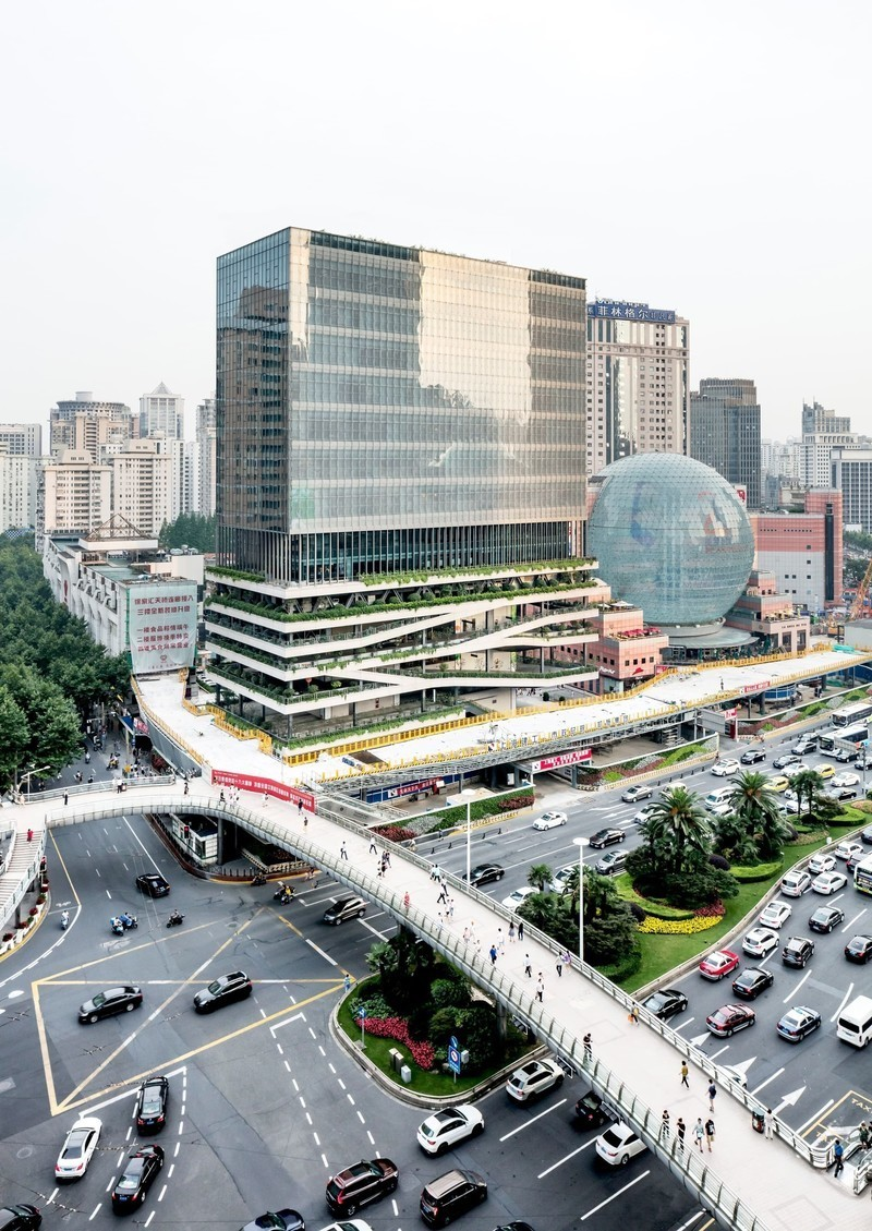 Newsroom - Press release - An urban oasis on Shanghai's busiest intersection - Jacques Ferrier Architecture and Sensual City Studio
