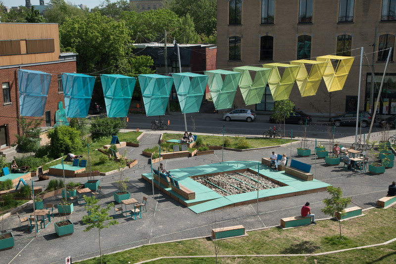 Newsroom - Press release - This summer on the Avenue: L'Aire – where shapes, light, and shade come together - Société de développement de l'avenue du Mont-Royal